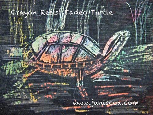 Crayon Resist Tadeo Turtle