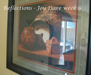 Reflection in a painting